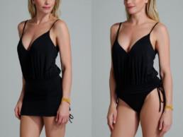traje de baño color negro. Modelo Beth