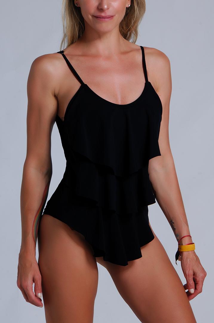 Malla enteriza negra modelo Sayulita