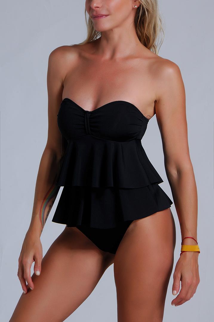 Enteriza Negra. Modelo Vayma