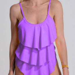 Malla enteriza Sayulita color lila