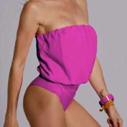 Traje de baño modelo Eva color magenta